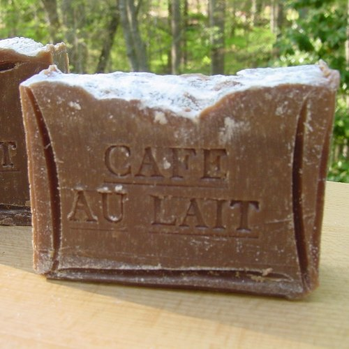 French Coffee Soap Cafe au Lait With Cocoa Butter Handmade Soap