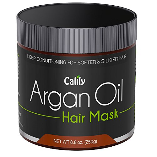 Calily Premium Natural Argan Oil Hair Mask 88 Oz - Deep Conditioner - Repairs Damaged Hair Hydrates Softens Strengthens Shines and Nourishes - Promotes Healing and Natural Hair Growth