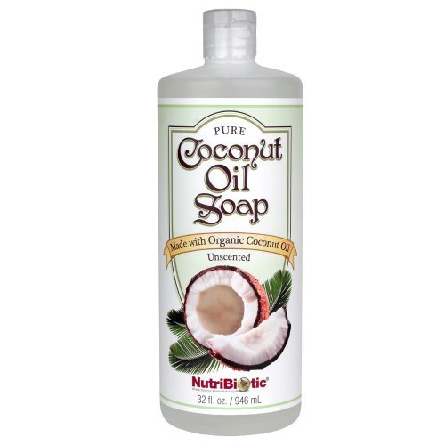 Nutribiotic Pure Coconut Oil Soap Unscented 32 Fluid Ounce