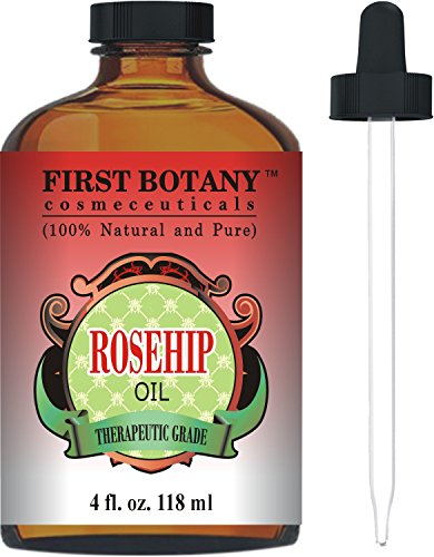 Rosehip Oil - 100 Pure Cold Pressed Organic 4 fl oz - Best Moisturizer to heal Dry Skin Fine Lines - Virgin Rose Hip Seed Oil For Face and Skin