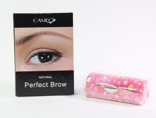 Cameo Cosmetics Natural Perfect Brow 1 Pink Flower Lipstick Case Brown Eyebrows Color Brush Stencils Tweezer Brush