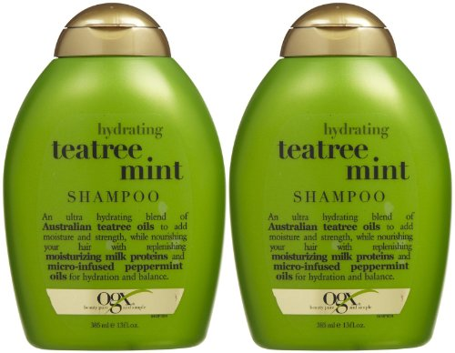 Ogx Hydrating Shampoo - Tea Tree Mint - 13 oz - 2 pk
