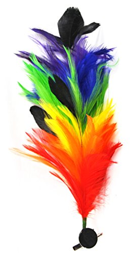 Bendable Feathered Hair Clip Feather Rainbow Colored - Multi Functional