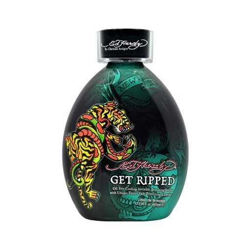 Ed Hardy Get Ripped Indoor Tanning Lotion Accelerator Bronzer Dark Tan Bed UV by Ed Hardy Beauty