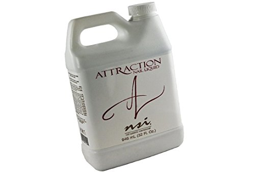 nsi Attraction Acrylic Nail Liquid is the most highly-advanced monomer on the market today offering quicker easier pick up and unsurpassed strength and flexibility - Size 32 fl oz  946 ml