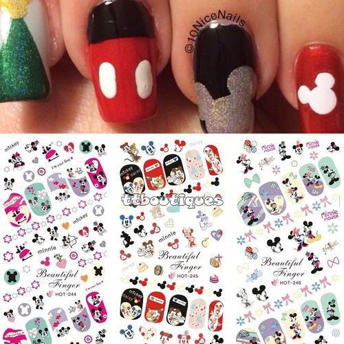 3 In 1 Water Transfer Decal Stickers Nail Art Manicure