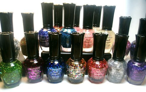 Kleancolor Nail Polish - 16 Glitter Colors With Nail