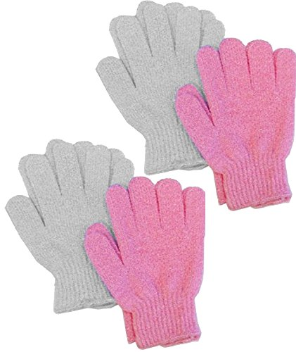 Aquasentials Exfoliating Bath Gloves 4 pairs