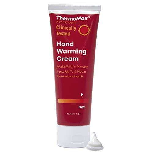 ThermoMax Hot Boston Topicals Natural Hand Warming Cream Soothes Foot Discomfort Moisturizes Dry Skin Absorbs Quickly - Clinically Tested Ingredients 4oz Tube