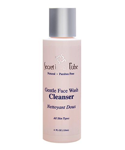 Secret in-a-Tube Natural Daily Exfoliating Facial Cleanser - The Best Face Wash for Sensitive Skin and All Skin Types