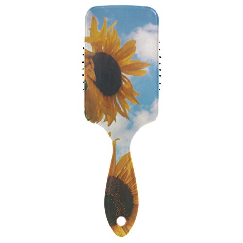 Sunflower Detangling Brush Natural Detangler Comb for All Hair Types to Detangle and Smooth Knots Easily Best or for Dry Hair Styling Straightening and No Pain Glide Thru Men Women