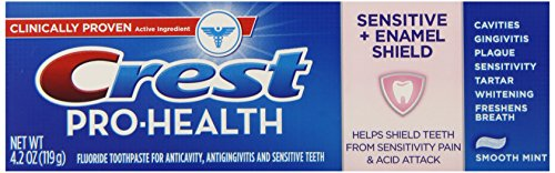 Crest Pro-Health Sensitive  Enamel Shield Smooth Mint Toothpaste 42 Oz Pack of 6