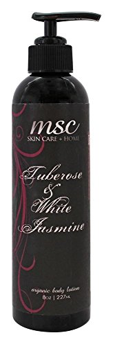 MSC Skin Care  Home Organic Body Lotion Tuberosewhite Jasmine 8 Ounce