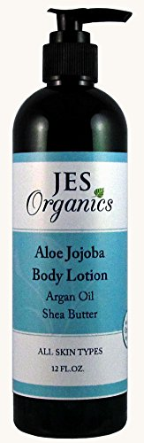 Body Lotion-Organic Infused Aloe Jojoba Lotion with Argan Oil and Shea Butter Paraben Free Non-Toxic -Cedarwood 12 oz