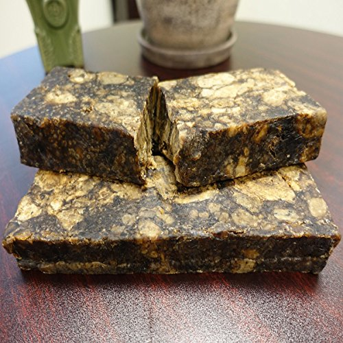 African Black Soap with Shea Butter and Coconut Oil from Ghana