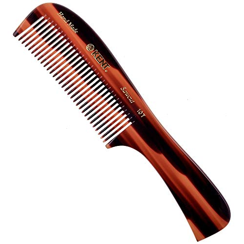Kent 10T Large Wide Tooth Comb - Rake Comb Hair DetanglerWide Tooth Comb for Curly Hair - Beard CombsHair Comb Hair Care Detangling Comb - Hair Comb for Men Hair Supplies - Natural Hair Comb Set