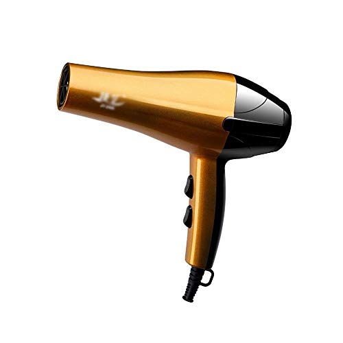 SweetJuan Powerful Electric Salon Hair Dryer Purple Travel Lightweight Hair Dryer Fast Drying with Diffuser Concentrator Hairdressing Dryer Fan Color  Gold