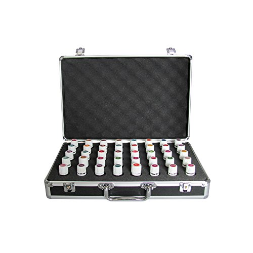 40 Bottle Black Essential Oil Carrying Case - Protect Your Oil Collection - Perfect for Travel Storage Display Precision Cut Foam To Fit the Most Popular Oils Including Young Living DoTerra