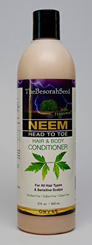 Neem Oil Bark Herbal Essential Oils Head Body Conditioner for Tangle Free Hair