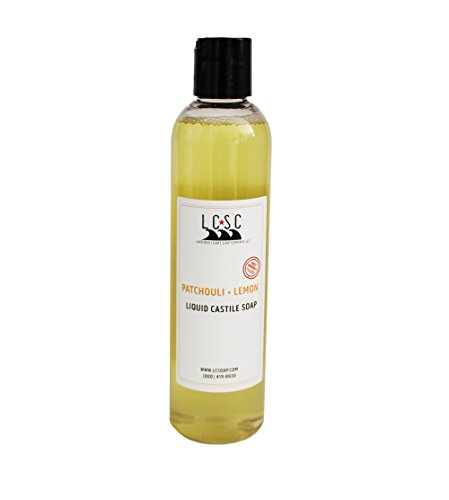 PATCHOULI LEMON LIQUID CASTILE SOAP - with Organic Hemp Oil