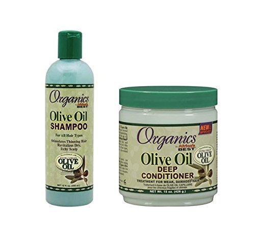 Originals by Africas Best Olive Oil Shampoo Olive Oil Deep Conditioner Duo Pack - Great For Itchy Scalp And Treats Damaged And Weak Hair Types