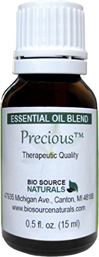 Precious Essential Oil Blend Aromatherapy for Self-Esteem - 05 fl oz 15 ml Bottle with Pure Essential Oils of Rose Geranium Ylang Ylang Melissa Rose Myrrh Frankincense Amber Orange and a tiny touch of Patchouli cablin