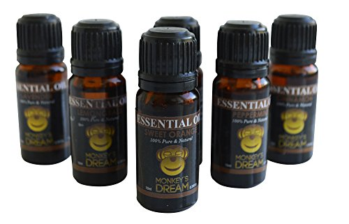Perfect Essential Oil 6 Bottles Set for Diffusers and Burners Lavendar Peppermint Eucalyptus Sweet Orange Lemongrass and Cinnamon Relax Stress Relief Calm Heal Therapeutic Grade 100 Pure Aromatherapy 30-day Thrilled Customer Guarantee