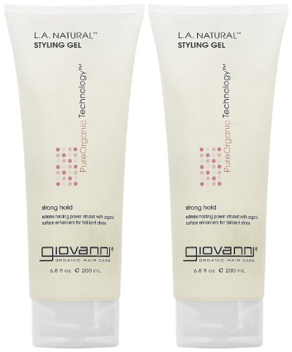 Giovanni LA Natural Styling Gel 68 oz 2 pk