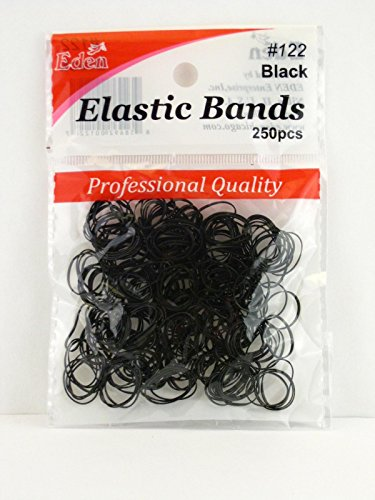 Eden Christina Black Hair Elastics - 250 Pcs