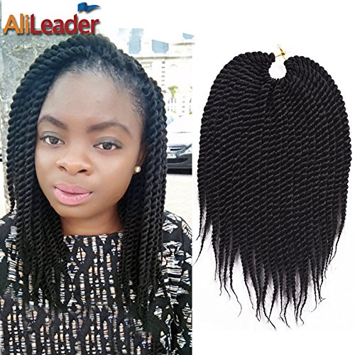 12 6pcs Black Crochet Braid Hair Medium Jumbo Twist Braid 80GPack 22RootsPack Kanekalon Synthetic Hair Extensions from AliLeader 6pcs