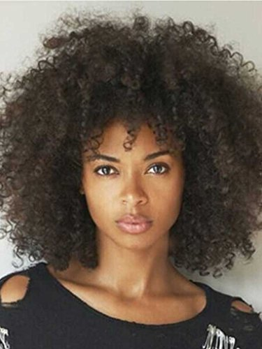 Long Afro-curly Hairstyle Synthetic Hair Wig by Mi Hair