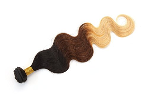 Rabake Ombre Hair Extentions 3 Tone 1B T 33 T 27 Brazilian Virgin Human Hair Body Wave 50gpc 1 Piece 14inch