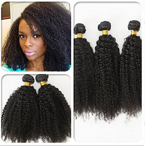 Unprocessed Virgin Mongolian Afro Kinky Curly Hair Extensions for Black Women 12