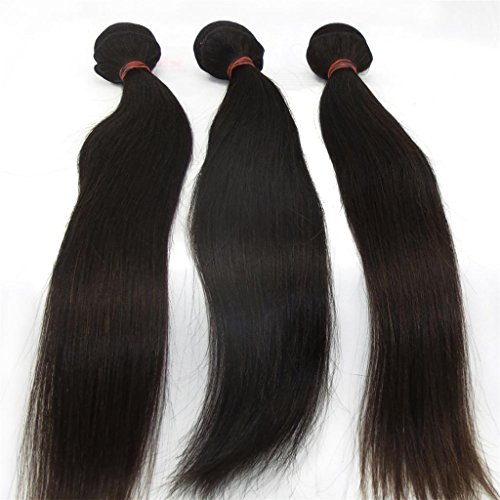 Lanova Beauty Girls 3PcsLot Mixed Length Peruvian Silky Straight Virgin Remy Hair Extensions Size16Inch 18Inch 20Inch
