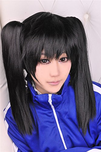 Lanting Cosplay wig Kagerou Projet Enomoto Black Ponytails Beauty Woman Anime Human Costume Full wigs Synthetic Hair Heat Resistant Fiber