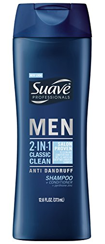 Suave Men 2 in 1 Shampoo and Conditioner Classic Clean Anti Dandruff 126 oz