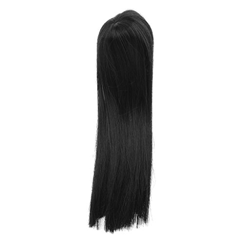 Long Black Straight Hair Wig Hairpiece for 16 BJD SD DOD DZ Dollfie Dolls