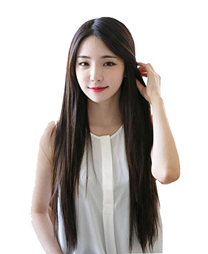 Tomorrow Lover 26 New Fashion Girls Long Straight Black Hair Party Full Wigwig cap