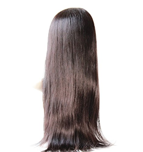 Cheap Front Lace Wig 100 human hair Wig Malaysian Virgin Remy Human Hair Natural Straight Color 1b