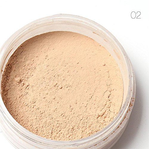 Etouji Women Mineral Loose Powder Foundation Face Cosmetic Beauty Pro Powder Waterproof Skin Finish Powder 7g