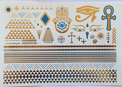 Metallic Gold Temporary Tattoos Desert Nights