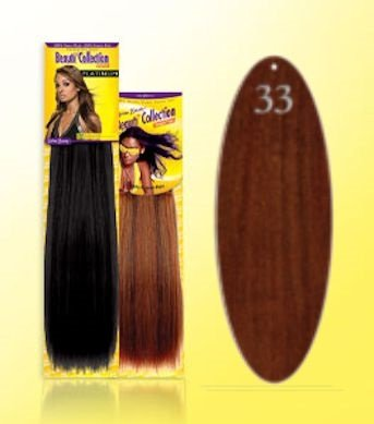 Beauti Collection Human Hair Weave -Straight Weave 12 - 33 Red - Size 12