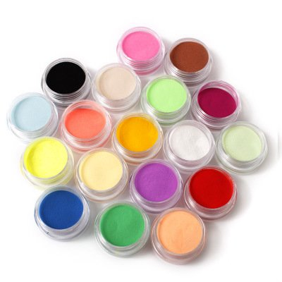 18pcs Fine Nail Art Glitter Dust Powder Nail Art - FashionDancing Nail Sticker Tatto - FashionDancing