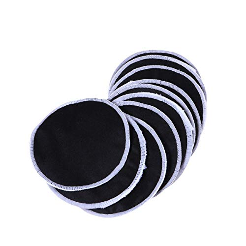 Lurrose 12PCS Bamboo Charcoal Makeup Cotton Pads Disposable Facial Cleaning Cotton for Woman Lady Female Black