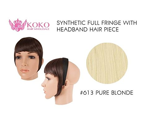 Synthetic Full Fringe With Headband Hair Piece-613 Pure Blonde