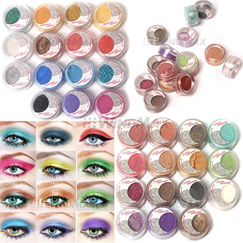 US Seller Brithday Gift Brand New 30 Mulit Color Cold Smoked Warmer Glitter Shimmer Pearl Loose Eyeshadow Pigments Mineral Eye Shadow Dust Powder Makeup Party Cosmetic Set by WindMax