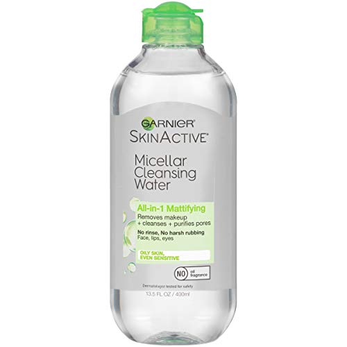 Garnier SkinActive Micellar Cleansing Water All-in-1 Makeup Remover and Facial Cleanser For Oily Skin 135 fl oz