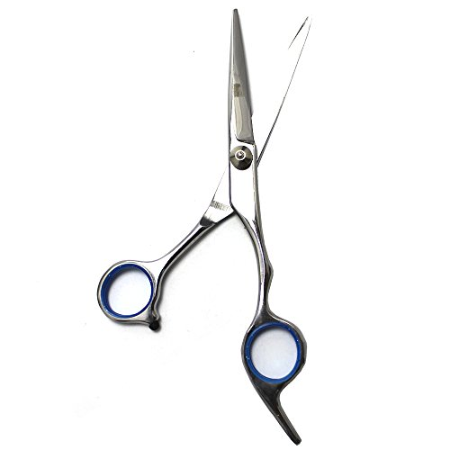 EYX Formula Stainless steel Hair Cutting Scsisor for Professional HairdresserHair Shears for Hair Trimmer At Home Blue Regular Scissors