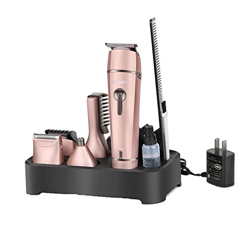JINDIN Electric Hair Clipper Grooming Kit Nose Ear Beard Trimmer Shaver Hair Cutting Suit for Family Rose Gold
