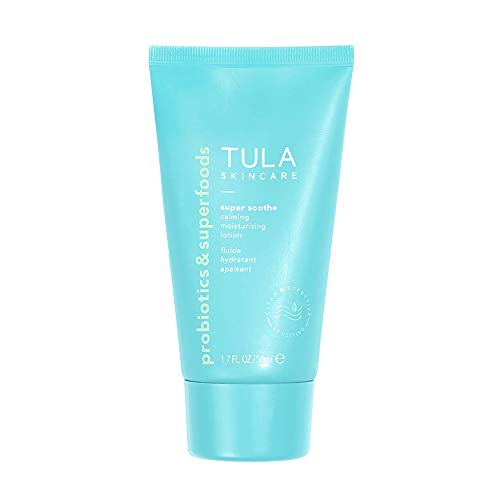TULA Probiotic Skin Care Super Soothe Calming Moisturizing Lotion  Calming Hydrating Non-Irritating for Sensitive Skin with Colloidal Oatmeal Cucumber Ginger  17 fl oz